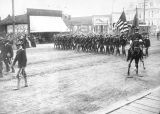 Military parade on State St. in Salem, Oregon