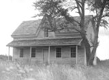 Newly restored home of Dr. Robert Newell at Champoeg in Marion County, Oregon, 1956