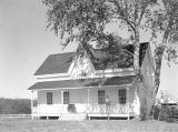 Newly restored home of Dr. Robert Newell at Champoeg in Marion County, Oregon, 1959