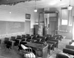 Interior of old Eola School at Eola, Polk County, Oregon