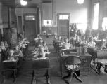 Students & teacher in classroom at old Eola School, Eola, Polk County, Oregon