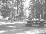Picnic area at Cascadia Springs State Park in Linn County, Oregon, 1957