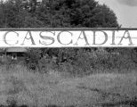 Sign at Cascadia, Oregon, 1942