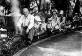 Harry Harvey's miniature railroad near Molalla, Oregon, 1961