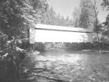 Horse Creek Covered Bridge over Horse Creek in Lane County, Oregon, 1957