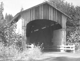 Wendling Covered Bridge over Mill Creek in Lane County, Oregon, 1957-62