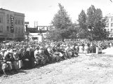 People gathered for the dedication of the Marion County courthouse in Salem, Oregon, 1954