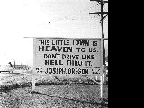 Traffic sign in Joseph, Wallowa County, Oregon