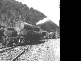Log transporter at Valsetz, Oregon, 1958