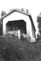 Bohemian Hall Covered Bridge on the Crabtree River in Linn County, Oregon, 1957