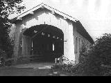 Logsden Covered Bridge over the Siletz River in Lincoln County, Oregon, 1946
