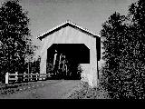 Bohemian Hall Covered Bridge over Crabtree Creek in Linn County, Oregon, 1960