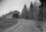 Hoffman Covered Bridge over Crabtree Creek near Crabtree, Linn County, Oregon, 1960