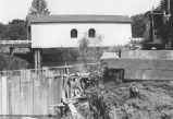 Tinker Jim Covered Bridge over Crabtree Creek in Linn County, Oregon, 1954