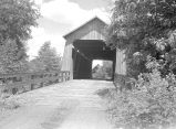 Gallon House Covered Bridge over Abiqua Creek in Marion County, Oregon, 1936
