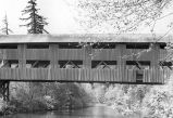 Wallace Covered Bridge over the South Yamhill River in Polk County, Oregon, 1946