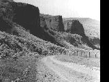 Road between Lonerock and Eightmile in Gilliam County, Oregon, 1963