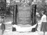 Marker for George T. Gerlinger Experimental Forest near Falls City, Oregon, 1955