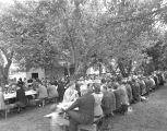 Farewell picnic for farmers displaced by Camp Adair installation, 1942