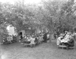 Farewell picnic for farmers displaced by Camp Adair installation in Oregon, 1942