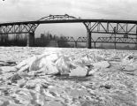 Ice on the Willamette River at Salem, Oregon, January 1937