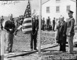 First flag raising at Camp Adair near Corvallis, Oregon, 1942