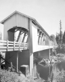 Foster Covered Bridge over South Santiam River in Linn County, Oregon, 1960