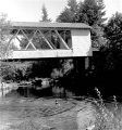 Short Covered Bridge over South  Santiam River in Linn County, Oregon, 1957