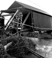 Gallon House Covered Bridge over Abiqua Creek in Marion County, Oregon, 1965