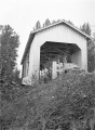 Bohemian Hall Covered Bridge over Crabtree Creek near Scio, Linn County, Oregon, 1957