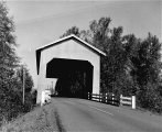 Bohemian Hall Covered Bridge over Crabtree Creek near Scio, Linn County, Oregon, 1960