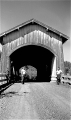 Hoffman Covered Bridge over Crabtree Creek near Crabtree, Linn County, Oregon, 1957