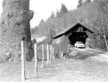 Drift Creek Covered Bridge in Lincoln County, Oregon, 1960