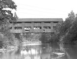 Wallace Covered Bridge over the South Yamhill River in Polk County, Oregon, 1940