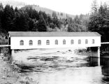 Goodpasture Covered Bridge over the McKenzie River in Lane County, Oregon, 1946