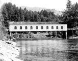 Goodpasture covered bridge over the McKenzie River in Lane County, Oregon, 1946-1957