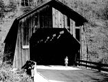 Chitwood Covered Bridge over Yaquina River in Lincoln County, Oregon, 1957