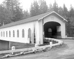 Goodpasture Covered Bridge over the McKenzie River in Lane County, Oregon, 1961