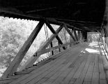 Knight Covered Bridge (also Joselyn Covered Bridge) over the Molalla River in Clackamas County,...