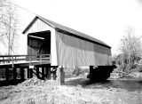 Gallon House Covered Bridge over Abiqua Creek between Mt Angel and Silverton in Marion County,...