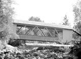 Larwood Covered Bridge over Crabtree Creek in Linn County, Oregon, 1948