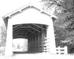 Crabtree Creek Covered Bridge over Crabtree Crabtree Creek in Linn County, Oregon, 1954