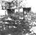 Tombstones of H.M. Labaree and J. Desmond in the old Auburn, Baker County, Oregon cemetery, 1963
