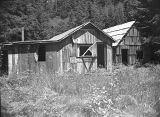 Abandoned shacks in Sugarloaf, Polk County, Oregon , 1956