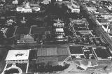 Aerial photo of Willamette University campus looking north in Salem, Oregon, 1976