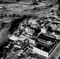 Aerial view looking northwest at the Oregon Pulp and Paper Co. in Salem, Oregon, 1958