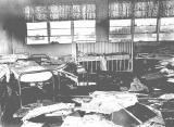 Debris from a fire in the dormitory building at Fairview Training Center in Salem, Oregon, 1969