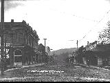 Jacksonville, Oregon in 1910 looking west on California Street