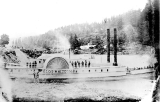 "Sidewheeler ""Lot Whitcomb"" , built in Milwaukie, Oregon, in 1850"