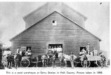 Seed warehouse at Derry Station, Polk County, Oregon, 1898